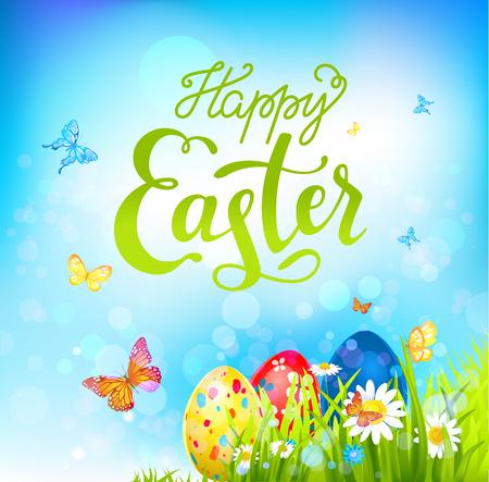 Easter sunny background Illustration