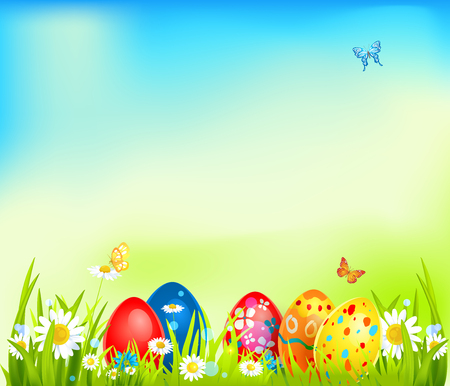 layout: Vector easter background