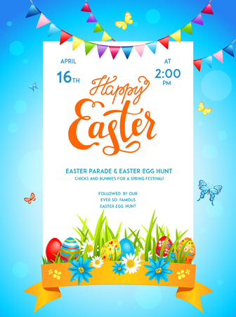 decoration: Bright easter template