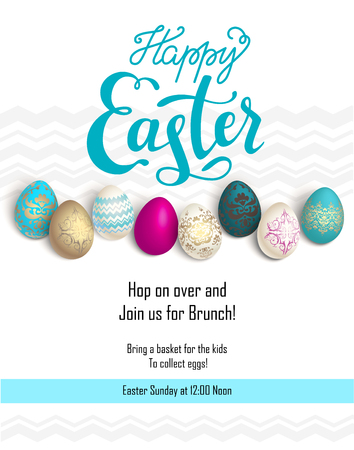 food: Easter holiday template