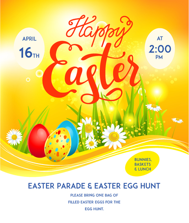 Template eggs easter Stock Vector - 75169357
