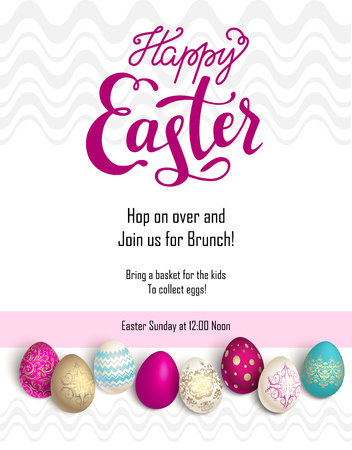 happy holidays: Easter egg holiday template