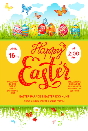 decoration: Easter eggs poster
