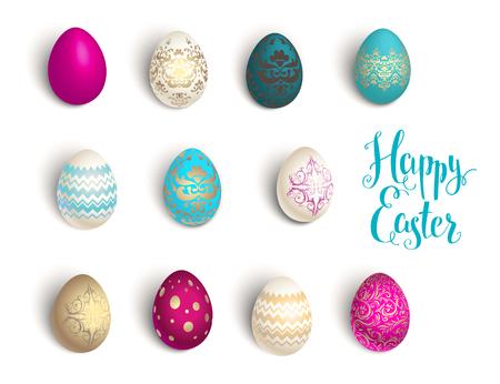 textured: Easter eggs set
