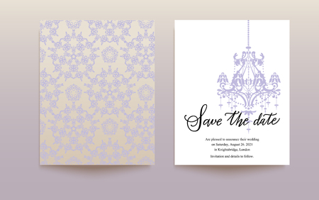 layout: Template wedding card Illustration