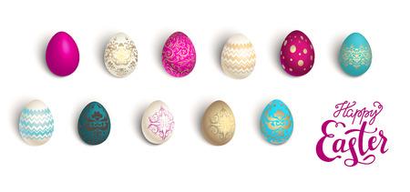 Color easter eggs Illustration