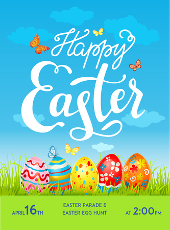 food: Easter poster template Illustration