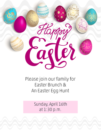Easter red holiday template Illustration