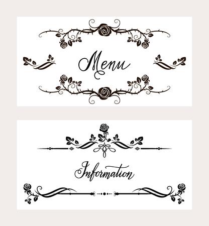 holiday invitation: Holiday invitation cards set