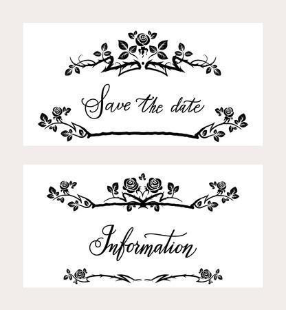 holiday invitation: Holiday invitation cards Illustration