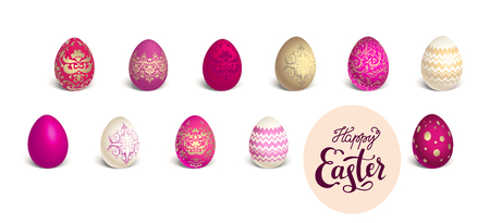 textured: Red colored eggs