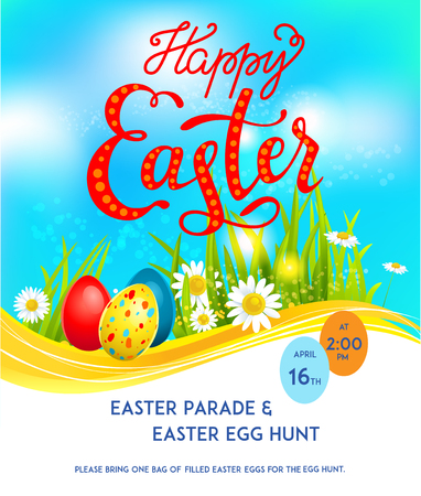 textured backgrounds: Template easter card Illustration