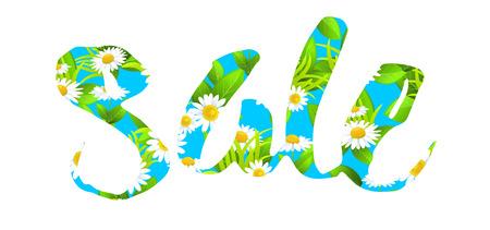 celebration background: Big sale lettering Illustration