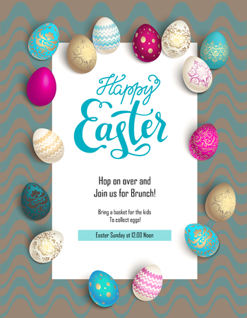 food: Easter holiday template design.