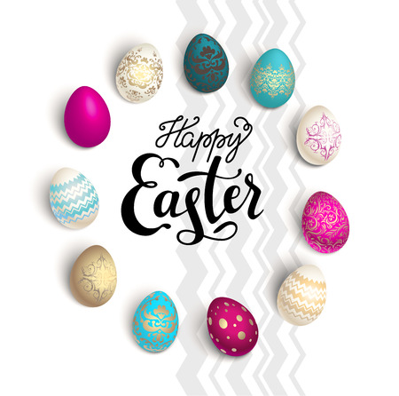 holiday background: Easter holiday card Illustration