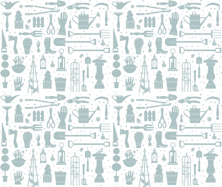 Garden tool seamless pattern