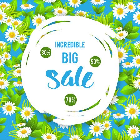 tranquil: Summer floral sale Illustration