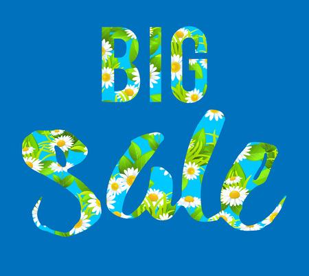 happy holidays: Big blue sale lettering