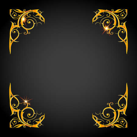 colors: Gold holiday frame