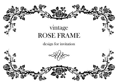 Rose vintage frame 矢量图像