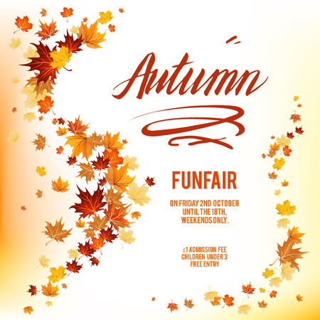 rusty background: Autumnl leaves poster