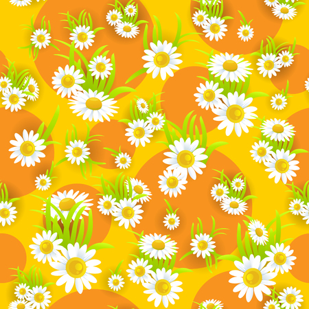 green environment: Floral yellow seamless pattern