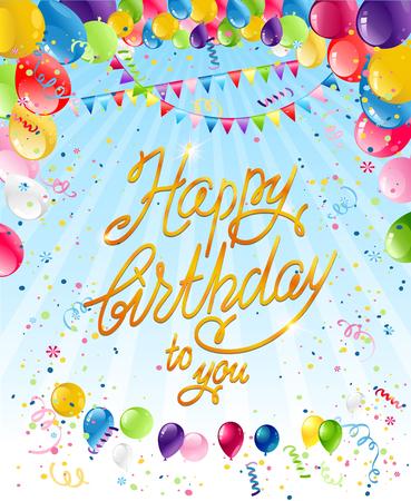 holiday background: Happy birthday card Illustration