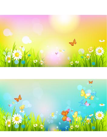 Heldere zonneschijn banners Stockfoto - 77238218