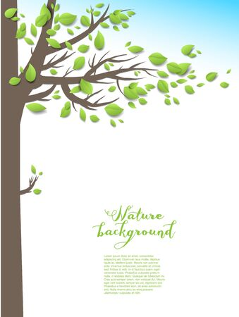 green environment: Spring green tree Illustration