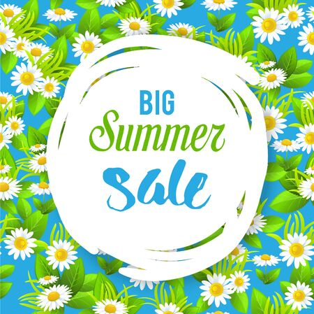 big: Summer sale card Stock Photo