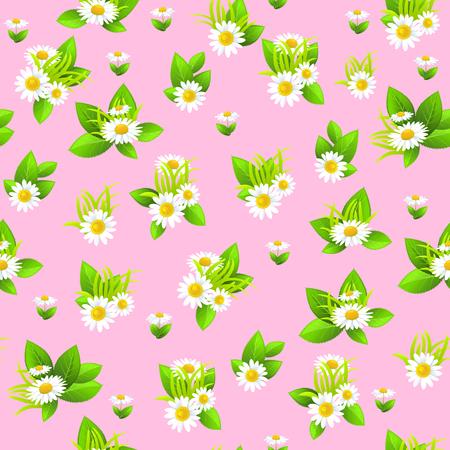 pattern: Floral pink seamless