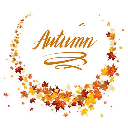 yellow: Beautiful autumn design