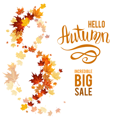 Fall leaves poster sale