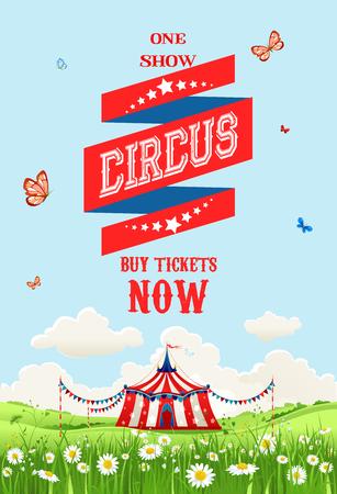 voyage: Cirque mobile en plein air Illustration