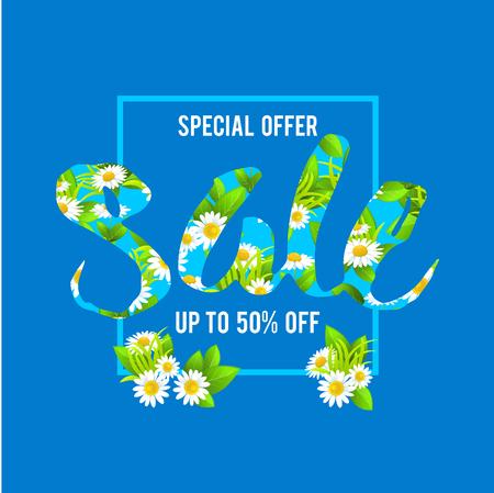 celebration background: Summer sale lettering