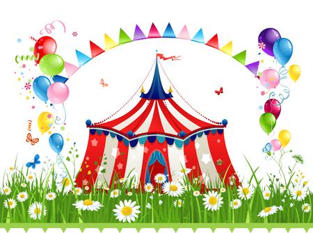 Summer circus banner