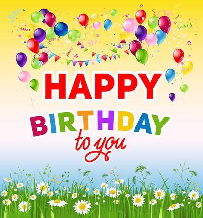 happy: Happy birthday to you