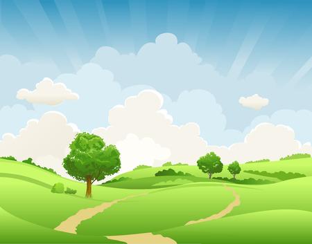 landelijke zomer landschap Stockfoto