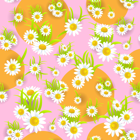 happy: Floral pink seamless pattern Illustration
