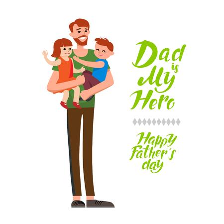 Papa is mijn held Stock Illustratie