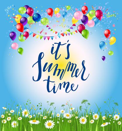 Happy summer to you Иллюстрация