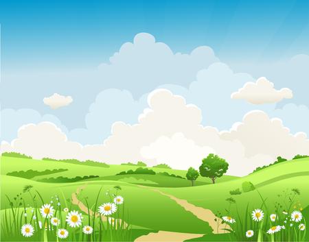 Summer natural scene