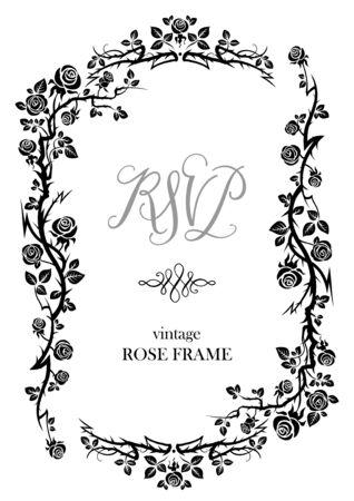 image: Black rose frame