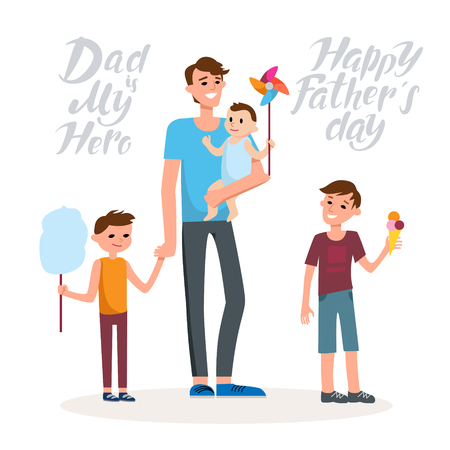 Happy father cartoon