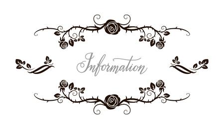 romance: Floral roses frame