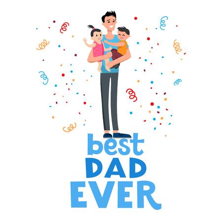 man: Best dad card Illustration