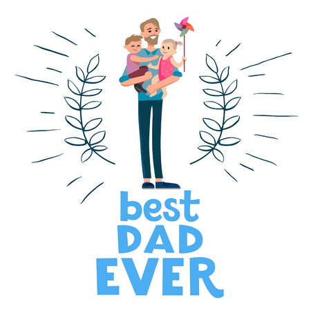 happy holidays: Best dad ever card