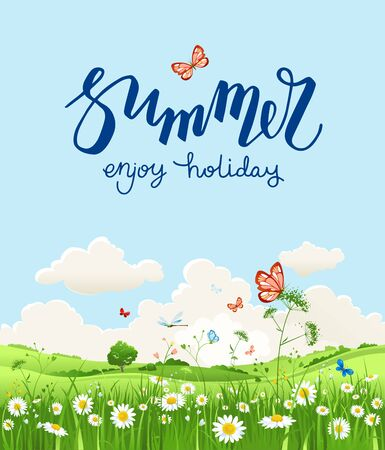 Enjoy summer card Stock Photo
