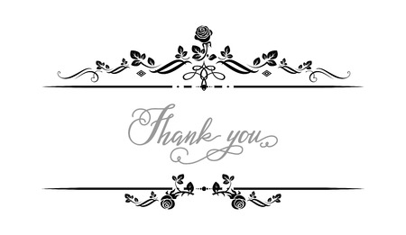 decoration: Thank you frame