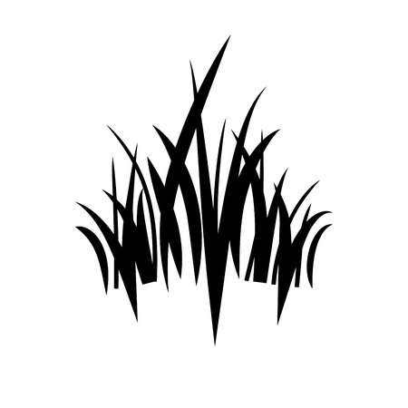 green environment: logo grass icon